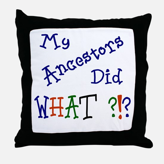 Did What? (blue) Throw Pillow