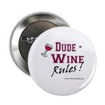 "Wine Rules Button (2.25"")"