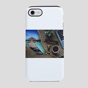 Unzipped Tropical Paradise iPhone 8/7 Tough Case