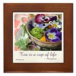 Cup of Life Framed Tile