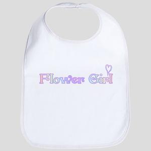 Rainbow Flower Girl Bib