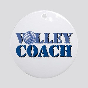 Volley Coach Round Ornament