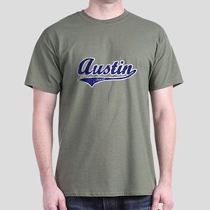 Austin Texas Text Dark T-Shirt