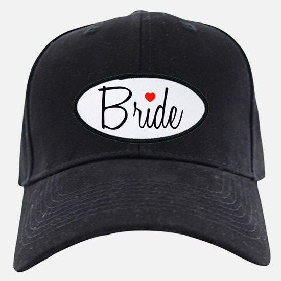 Bride (Black Script With Heart) Baseball Hat