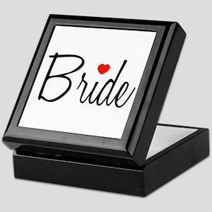 Bride (Black Script With Heart) Keepsake Box