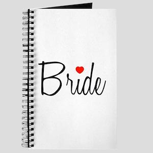 Bride (Black Script With Heart) Journal