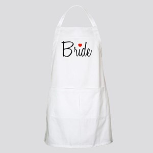 Bride (Black Script With Heart) BBQ Apron
