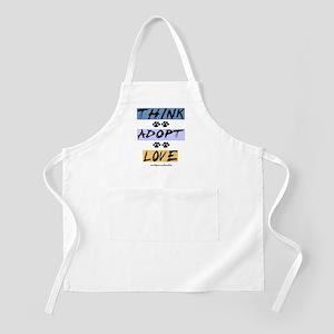 Think Adopt Love BBQ Apron