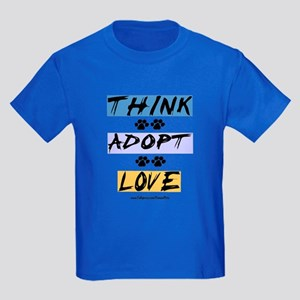 Think Adopt Love Kids Dark T-Shirt