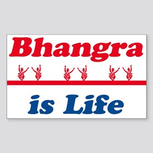 Bhangra Is Life Rectangle Sticker