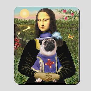 Mona Lisa & Sir Pug Mousepad