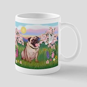 Spring Blossoms & Fawn Pug Mug