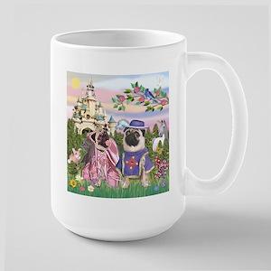 Sir Pug & Princess Large Mug