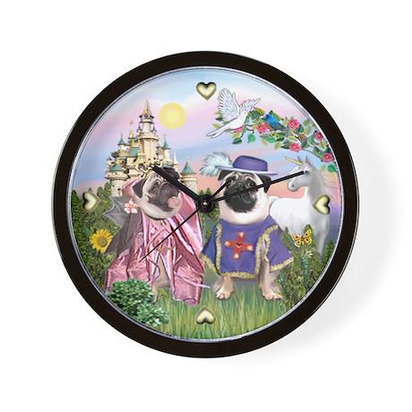Sir Pug & Princess Wall Clock