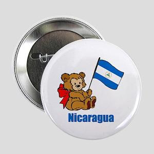 """Nicaragua Teddy Bear 2.25"""" Button (10 pack)"""