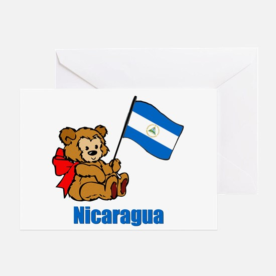 Nicaragua Teddy Bear Greeting Card