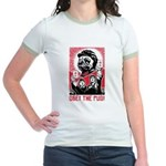 Follow Chairman Pug! 2-sided Jr. Ringer T-Shirt