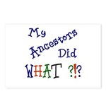 Did What? (blue) Postcards (Package of 8)