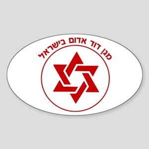 Magen David Adom Sticker (Oval)