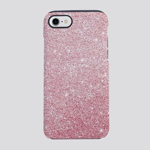 Rose-gold faux glitter iPhone 8/7 Tough Case