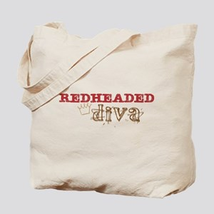 Redheaded Irish Diva Tote Bag