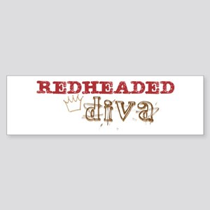 Redheaded Irish Diva Bumper Sticker