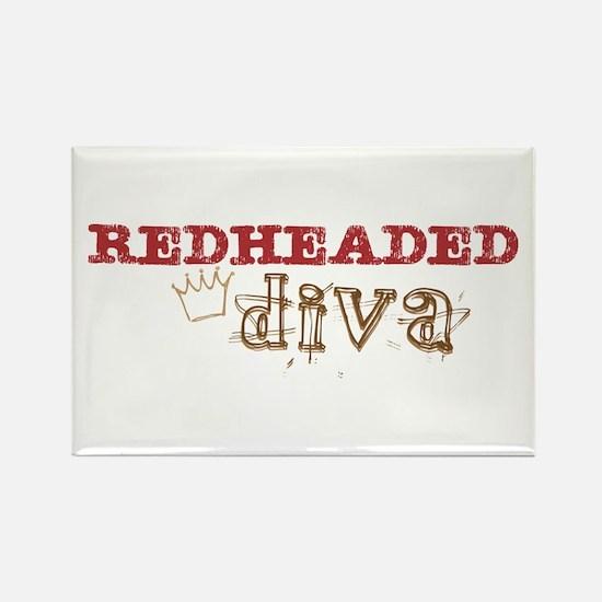 Redheaded Irish Diva Rectangle Magnet