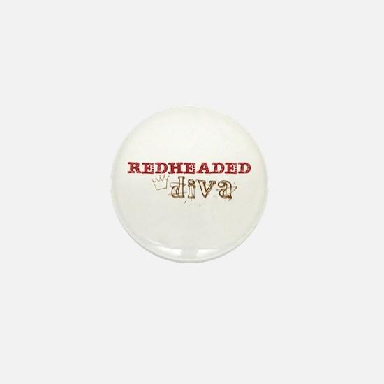 Redheaded Irish Diva Mini Button