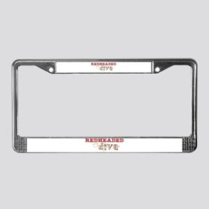 Redheaded Irish Diva License Plate Frame