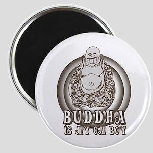 Retro Buddha Is My Homeboy Magnet
