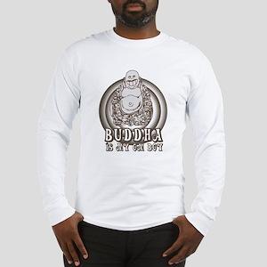Retro Buddha Is My Homeboy Long Sleeve T-Shirt