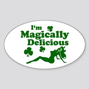 Magically Mudflap Oval Sticker