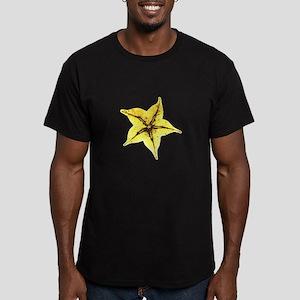 Men's Fitted Star Fruit T-Shirt (dark)