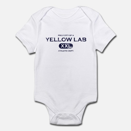 Property of Yellow Lab Baby Bodysuit