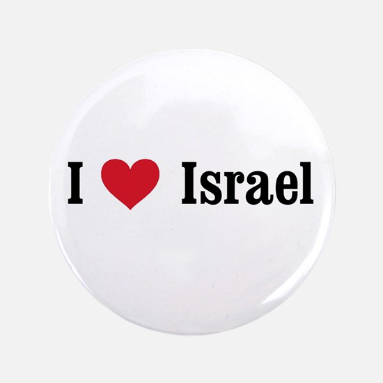 "I Heart Israel 3.5"" Button"