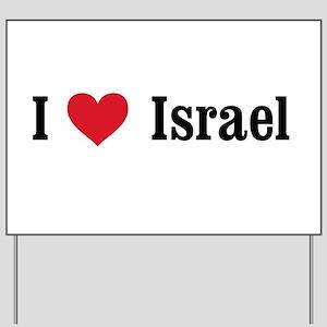 I Heart Israel Yard Sign