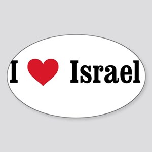 I Heart Israel Oval Sticker