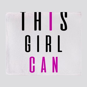 This Girl Can (I CAN) Throw Blanket