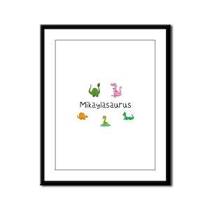 Mikaylaosaurus Framed Panel Print