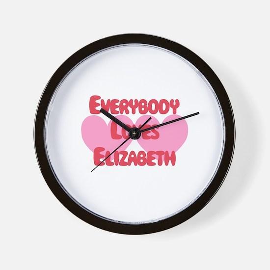 Everybody Loves Elizabeth Wall Clock
