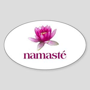 Namasté Oval Sticker