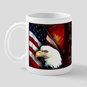 Patriotic Bald Eagle In Space - Mug