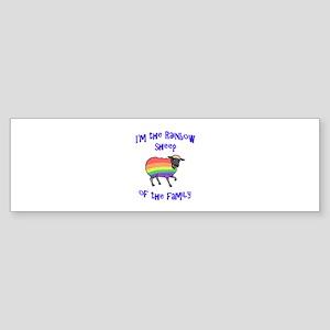 Rainbow Sheep of the Family Bumper Sticker