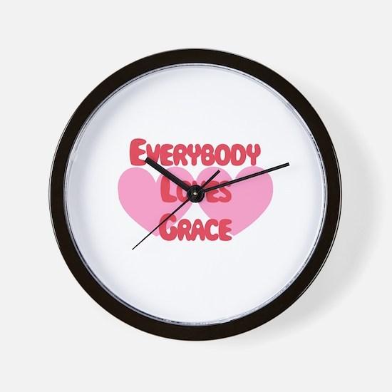 Everybody Loves Grace Wall Clock