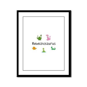 Rebekahosaurus Framed Panel Print