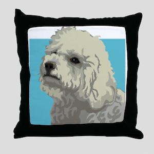 Bolognese dog Throw Pillow