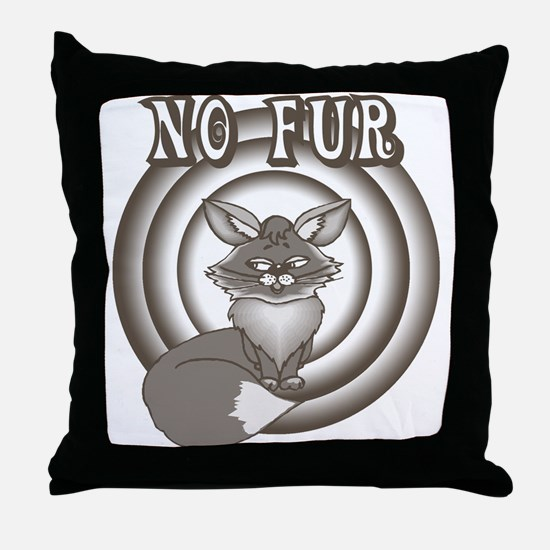 Retro No Fur Throw Pillow