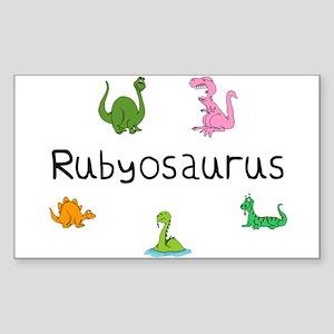 Rubyosaurus Rectangle Sticker