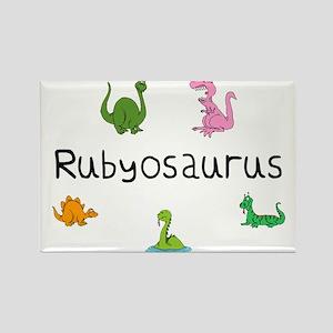 Rubyosaurus Rectangle Magnet