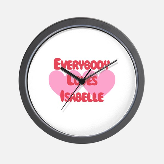 Everybody Loves Isabelle Wall Clock